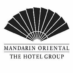 Mandarin Oriental The Hotel Group Black Logo over white background