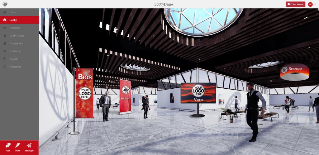 chime live - virtual lobby