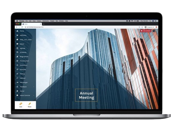 We incorporate your business or event branding across the Chime Live platform.