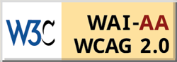 WCAG 2.0 AA accessibility standards logo