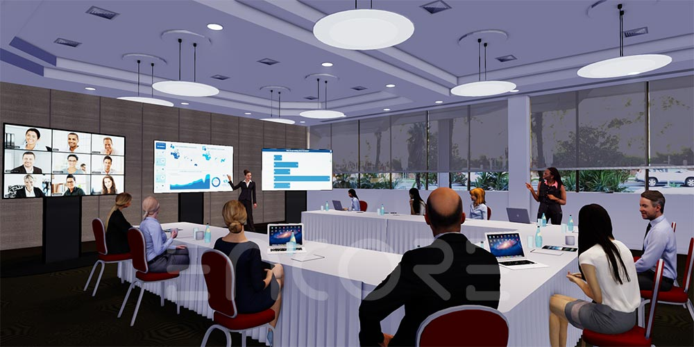3d-Event-Render-Meeting-Social-Distancing