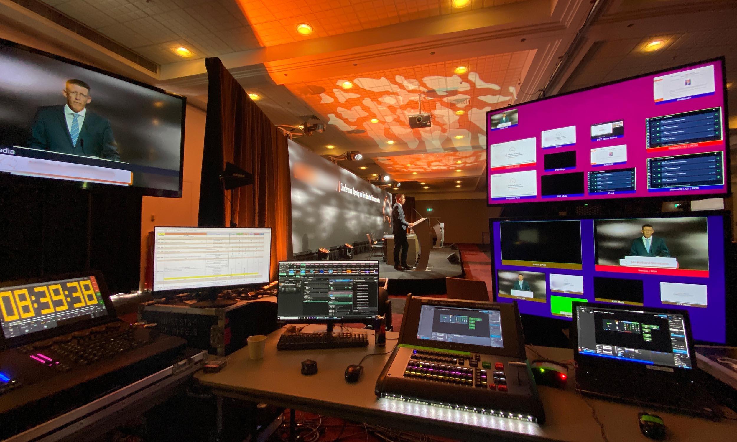 Virtual Conference AV Desk