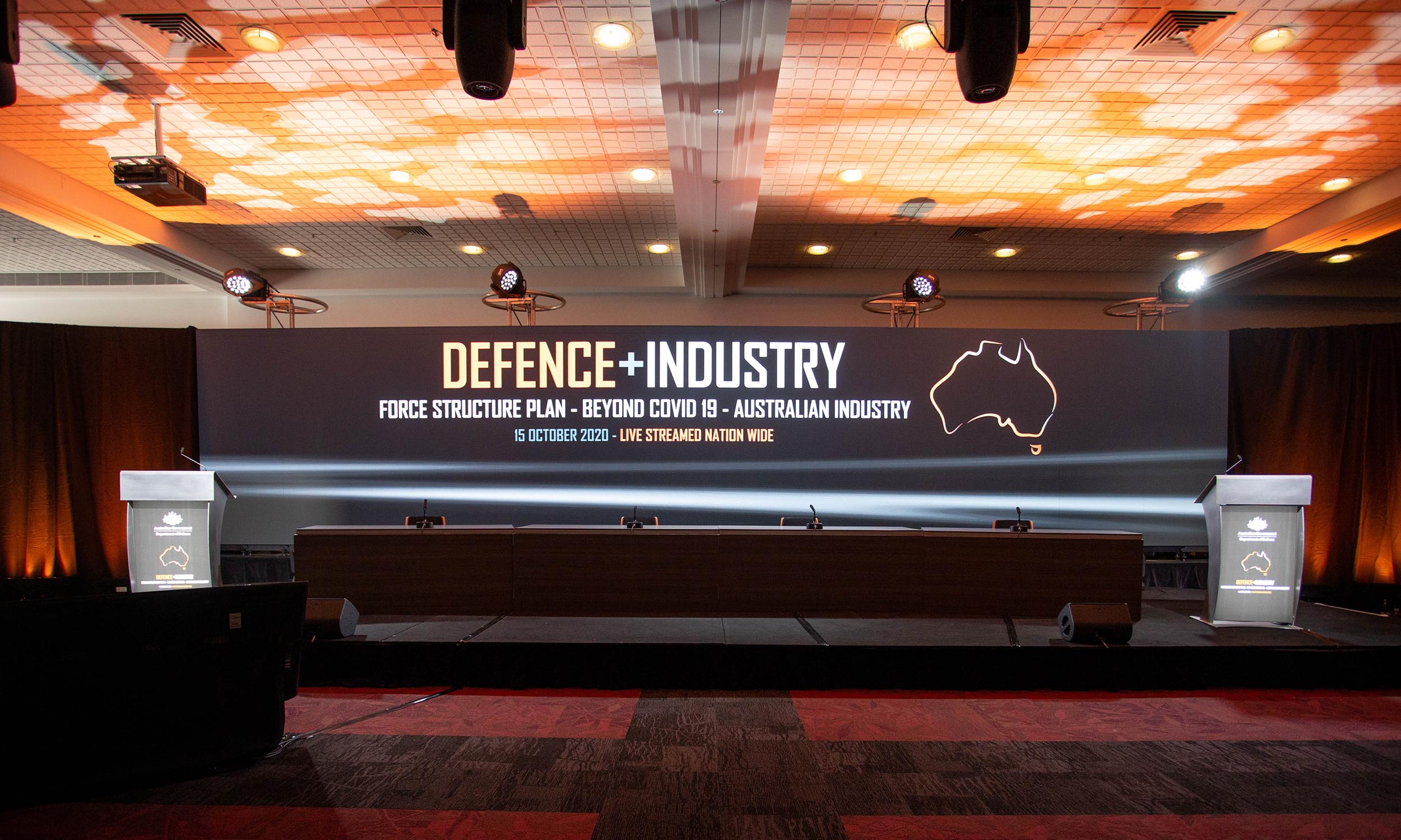 Virtual Conference Stage Defence Industry Conference