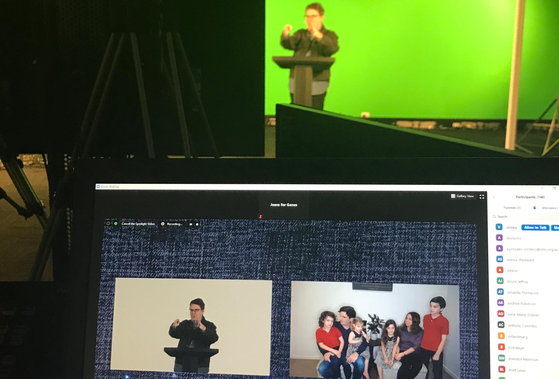 Green Screen Stage Virtual Event