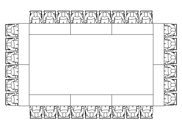 Hollow Square Seating Style