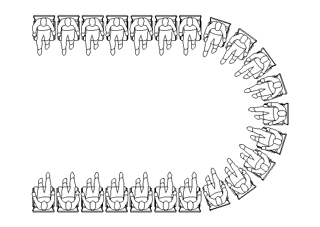 Horse Shoe Style Event Seating Arrangement