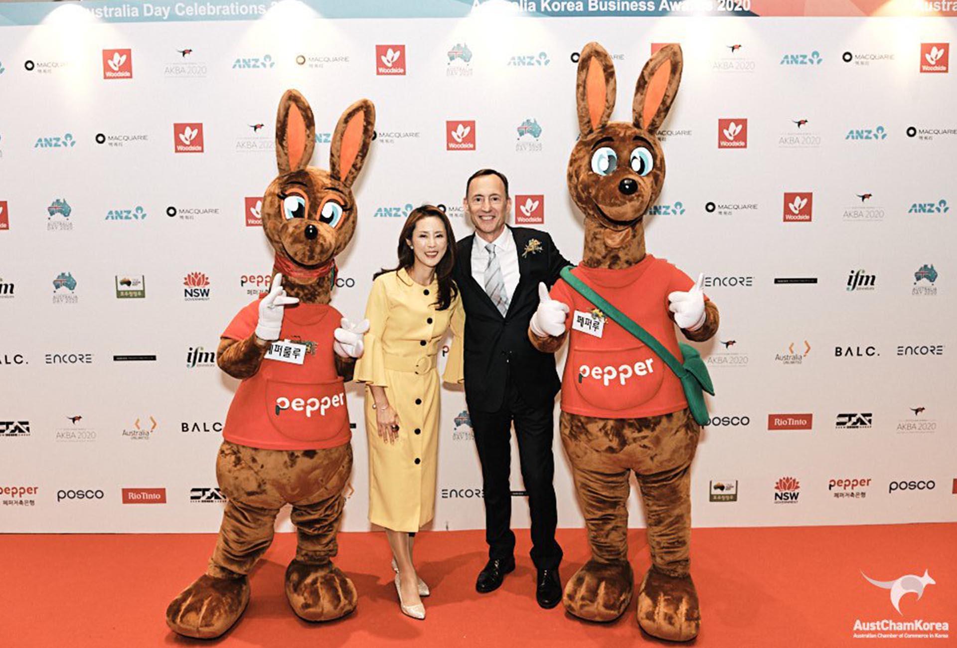 Media Wall Australia Korea Business Awards 2020