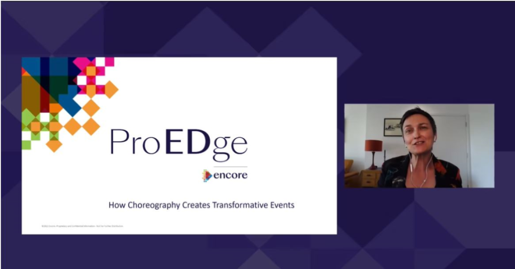 Image from ProEDge webinar on 'How Choreography Creates Great Event Experiences'