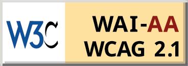 WCAG Conformance Logo showing W3C WAI-AA WCAG 2.1 Accessibility Compliance
